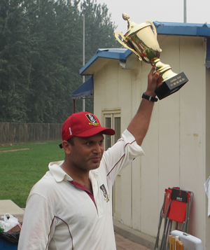 Team Skipper Waqar Khattak after winning the China Cup in Beijing in 2013