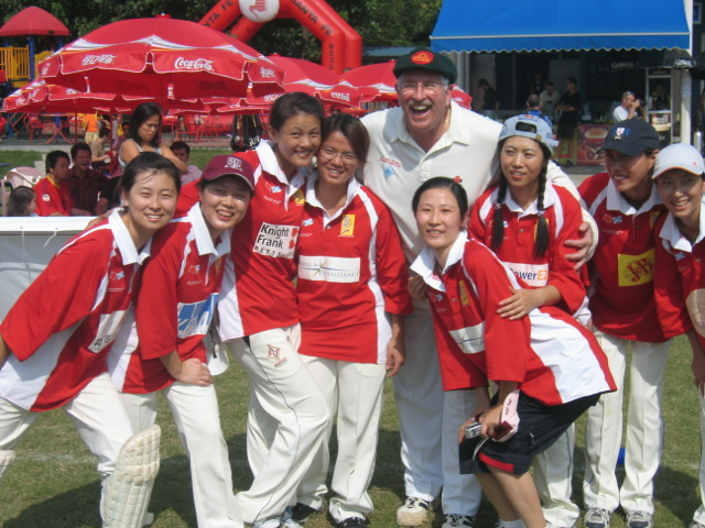 Max Walker with the Chinese Women Sixes Team, 2006